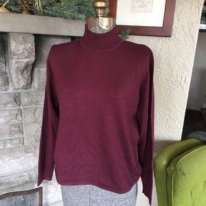 NWOT Pendleton Silk Blend Mock Turtleneck Sweater